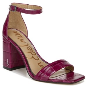 Sam Edelman Women's Daniella Two-Piece Block-Heel Sandals Women's Shoes