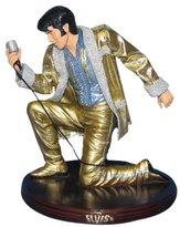 "Kurt Adler Fabric Mache Elvis in Gold Suit 5-1/2"""
