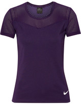 Nike Hypercool Dri-fit Stretch-jersey And Mesh Top - Purple