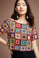 Anthropologie Crocheted & Cropped Pullover