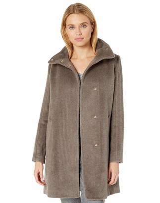 Cole Haan Women's Alpaca Blend Topper Coat