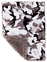 Baby Laundry Minky Camo/Tile Blanket in Grey