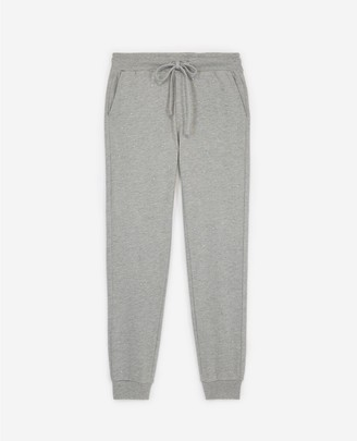 The Kooples Cotton grey joggers with rhinestones