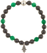 Steve Madden Beaded Stretch Hamsa Charm Bracelet