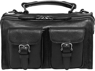 Old Trend Genuine Leather Las Luna Crossbody Bag (Black) Handbags