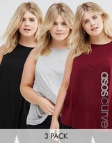 Asos Girly Swing Top 3 Pack