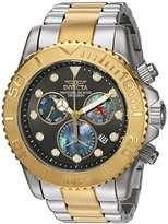 Invicta Men's 'Pro Diver' Swiss Quartz Stainless Steel Casual Watch, Color:Two Tone (Model: 20347)