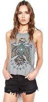 Lauren Moshi Libby High Neck Crop Tank in Heather Grey