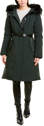 Mackage Kailyn Leather-Trim Down Coat