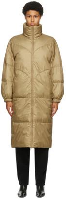 Etoile Isabel Marant Khaki Long Crayao Coat