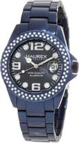 Haurex Italy Women's Ink Stones Aluminum Crystal Date Watch XK374DB3
