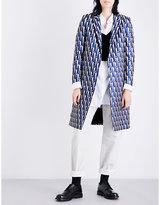 Dries Van Noten Ricks geometric-jacquard coat