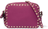 Valentino The Rockstud Textured-leather Shoulder Bag - Magenta