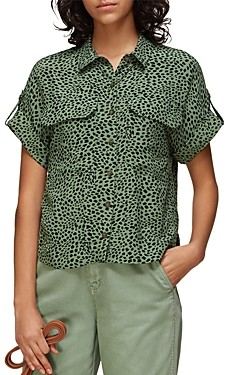 Whistles Spotted Animal Pocket Shirt
