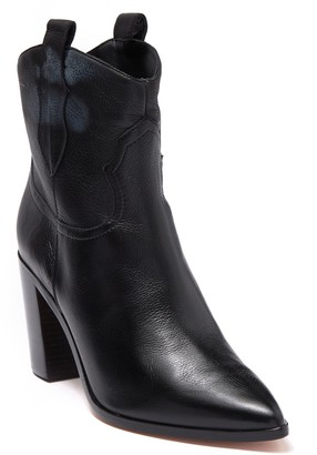 Schutz South Leather Block Heel Western Boot