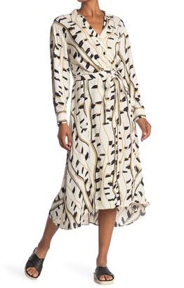 Reiss Sky Light Snake Midi Shirt Dress