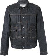MAISON KITSUNÉ embroidered denim jacket - men - Cotton - S