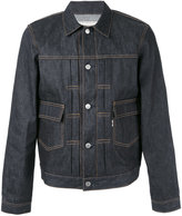MAISON KITSUNÉ embroidered denim jacket - men - Cotton - XL