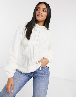 In The Style x Lorna Luxe lullaby ribbed hoody two-piece in ecru