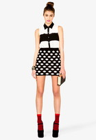 Forever 21 Polka Dot Bodycon Skirt