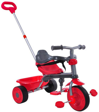 Trike Star 2 In 1 Deluxe Tricycle - Red No