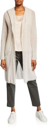 Max Mara Leisure Hooded Long-Sleeve Wrap Cardigan