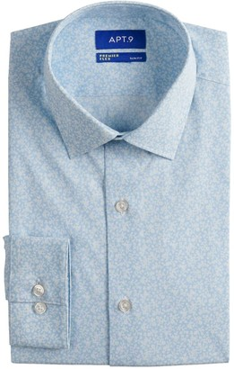 Apt. 9 Men's Slim-Fit Wrinkle-Resistant Stretch Dress Shirt