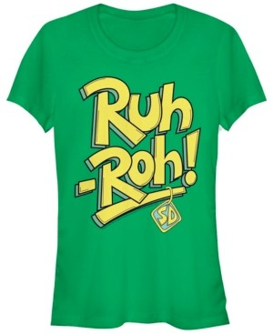 Fifth Sun Scooby-Doo Ruh-Roh Collar Text Women's Short Sleeve T-Shirt