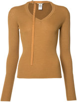 Nina Ricci neck strap jumper - women - Silk/Wool - M
