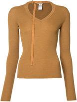 Nina Ricci neck strap jumper - women - Silk/Wool - S