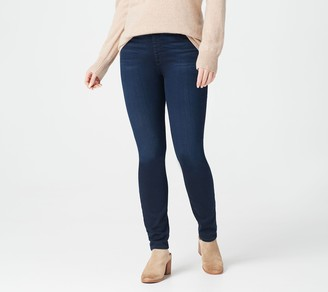 JEN7 by 7 For All Mankind Comfort Pull-On Skinny Jeans- Dark Indigo