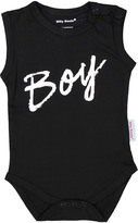 Silly Souls Black Script 'Boy' Bodysuit - Infant