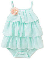 Starting Out Baby Girls Newborn-9 Months Ruffled Mesh Tier Bodysuit