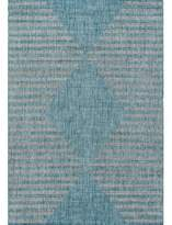 Momeni Villa Cavallo Aqua Indoor/Outdoor Area Rug Novogratz Rug Size: Rectangle 2' x 3'