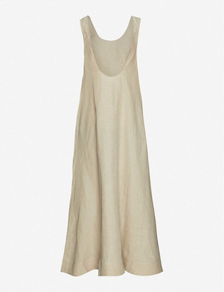ASCENO Capri organic-linen dress