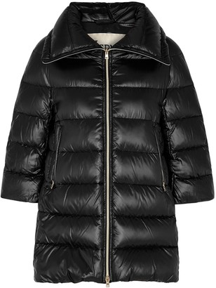 Herno Icon Black Quilted Shell Coat