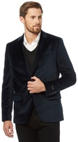 J By Jasper Conran Dark Navy Velvet Two Button Jacket