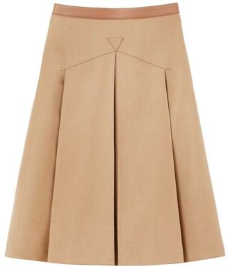 Burberry Wool & Silk A-Line Skirt