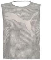 Puma Womens Dance Tank DryCell Sleeveless Round Neck Sports Elastic Training Top
