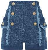 Balmain Deconstructed Denim Shorts