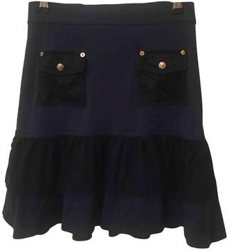 Luella Navy Wool Skirt for Women