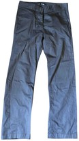 Etoile Isabel Marant Blue Cotton Trousers