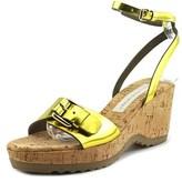Stella McCartney Gemini Open Toe Leather Wedge Sandal.