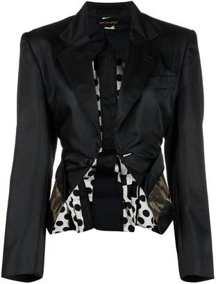 Comme Des Garçons Pre-Owned Panelled Detailing Jacket
