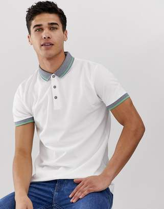 Esprit polo with contrast collar-White