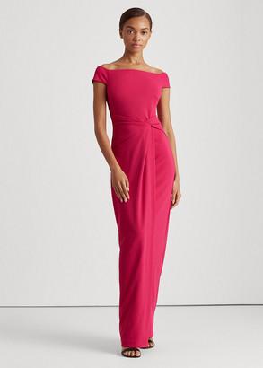 Ralph Lauren Crepe Off-the-Shoulder Dress