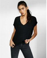 Express Petite One Eleven V-neck London Tee