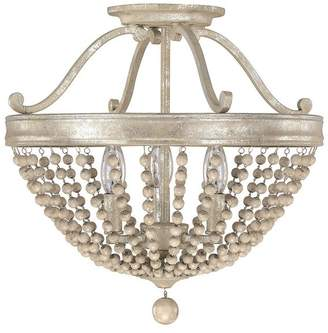 Capital Lighting Fixture Co. Capital Lighting 4444SQ Adele 3-Light Semi-Flush, Silver Quartz