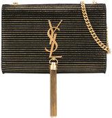 Saint Laurent striped Kate tassel clutch