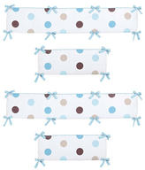 JoJo Designs Sweet Mod Dots Blue Collection Crib Bumper